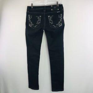 Miss Me denim black skinny jeans SZ:27